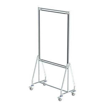 Verrijdbaar whiteboard, 90x120 cm