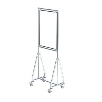 Verrijdbaar whiteboard, 60x90 cm