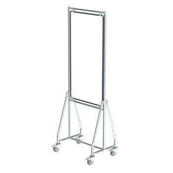 Verrijdbaar whiteboard, 60x120 cm