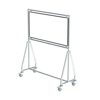 Verrijdbaar whiteboard, 120x60 cm