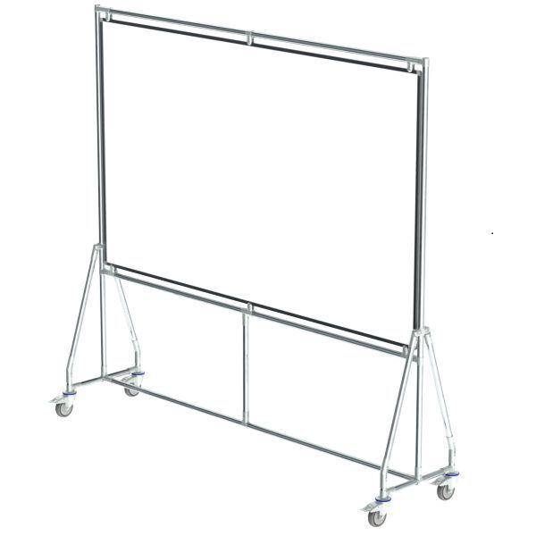 verrijdbaar whiteboard 200x120 cm
