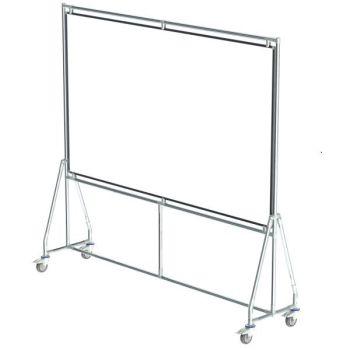 Verrijdbaar whiteboard, 200x120 cm