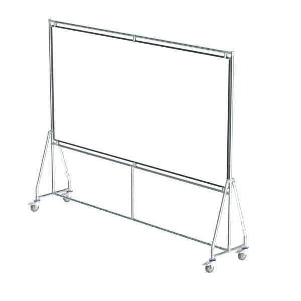 verrijdbaar whiteboard 240x120 cm