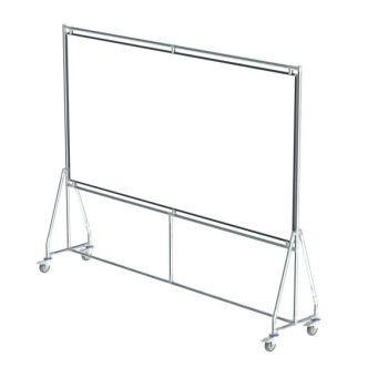 Verrijdbaar whiteboard, 240x120 cm