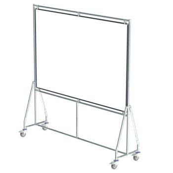 Verrijdbaar whiteboard, 180x120 cm