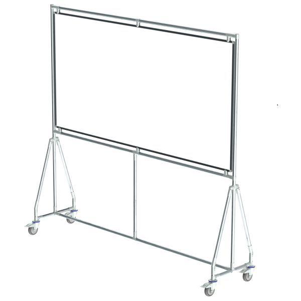 verrijdbaar whiteboard 200x100 cm