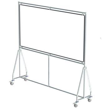 Verrijdbaar whiteboard, 200x100 cm