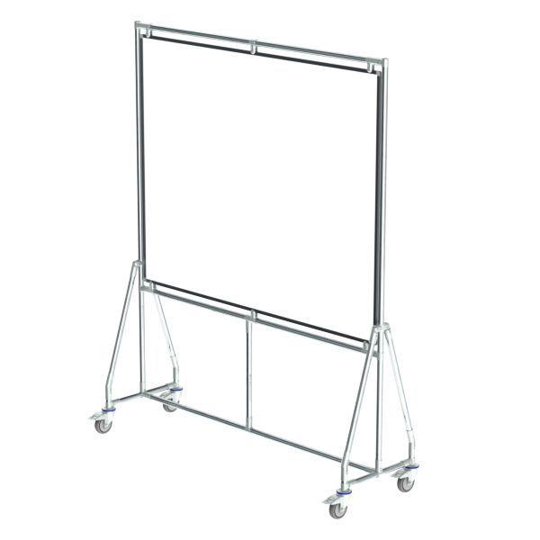verrijdbaar whiteboard 150x120 cm