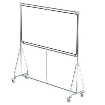 Verrijdbaar whiteboard, 180x90 cm