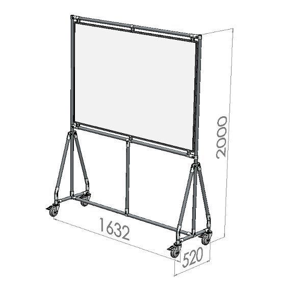 verrijdbaar whiteboard 150x100 cm