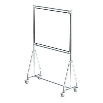 Verrijdbaar whiteboard, 120x90 cm