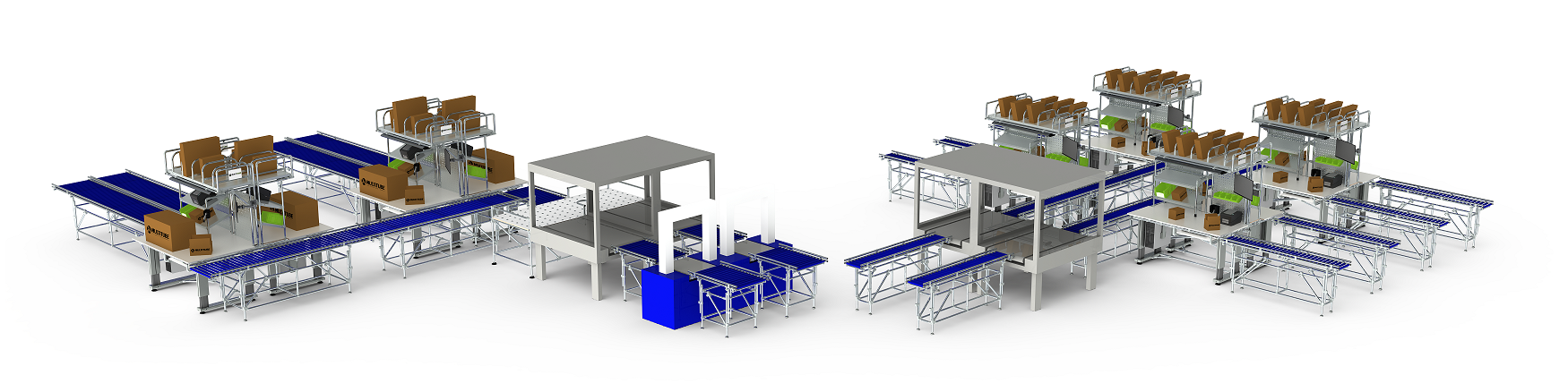 Multitube packaging line