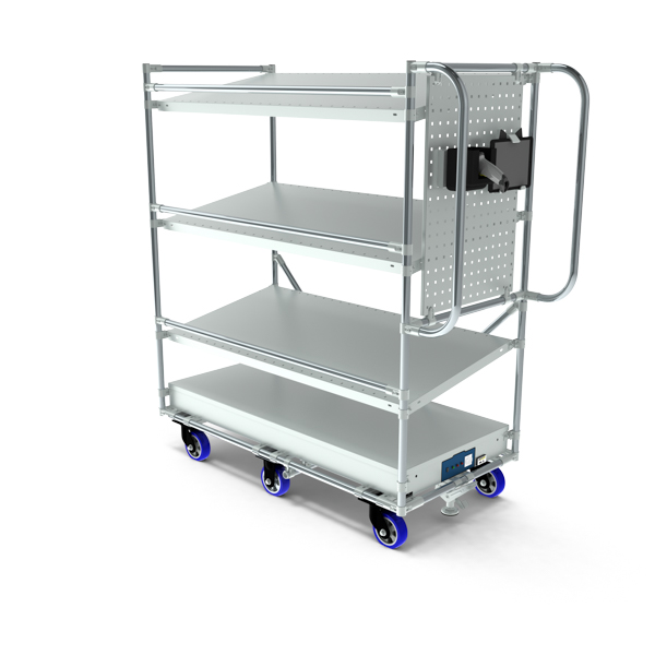 Order pickting trolley multitube